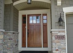 Crisp And Clean Just In Time For Spring Clopay Craftsman - Sidelights for front doors