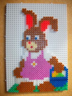 Easter bunny hama perler beads
