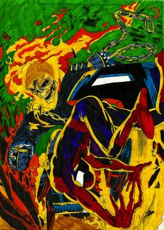 Ghost Rider Vs Spiderman  by Wolfgun (Randall Reis Zacarias)