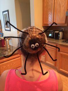 Halloween spider crazy hair day
