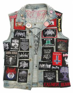 Battle Jacket, Studded Jacket, Diy Clothing, Heavy Metal, Vests, Patches, Army, Punk, Passion