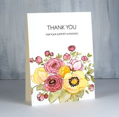 Penny Black Cards, Penny Black Stamps, Distress Markers, Distress Ink, Nat King Cole Songs, Pretty Cards, Watercolor Paper, Thank You Cards, Cardmaking