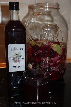 Healthy Drinks, Healthy Recipes, Red Beets, Polish Recipes, Polish Food, Preserves, Pickles, Whiskey Bottle, Ale