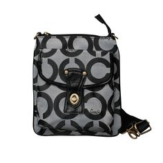 #FashionTime Coach Turnlock Signature Small Grey Crossbody Bags EPG