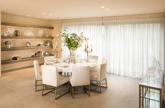 Contemporary Dining Room Furniture | White dining tables for a chic dining room interior