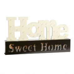 """One of my favorite discoveries at ChristmasTreeShops.com: """"Home Sweet Home"""" LED Decor"""