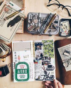 Aug16。走走印印 at Taipei #travelersnotebook #midori #kaweco #twsbi…