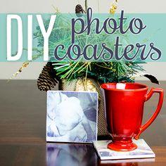 DIY Photo Coasters #DIY #KidProject #DIYKids photo coaster, craft