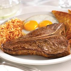 T-bone steak and eggs at Denny's.  My favourite meal at Dennys