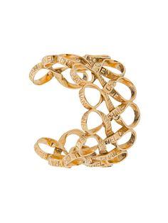 Chanel Vintage logo ribbon bangle