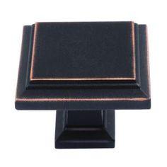 Atlas Homewares Sutton Place 1-1/4 in. Venetian Bronze Square Cabinet Knob-289-VB - The Home Depot