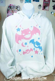 Kawaii+Fairy+Kei+Pastel+Goth+Bats+Womens+by+thekawaiimachine,+$45.00