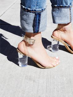 Jeffrey Campbell Glass Slipper Heel at Free People Clothing Boutique