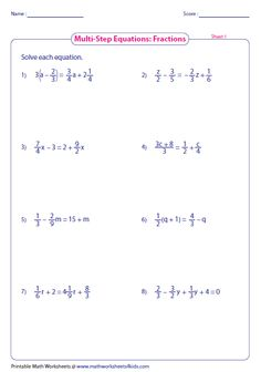 Solve One-Step Equation: Multiplication and Division