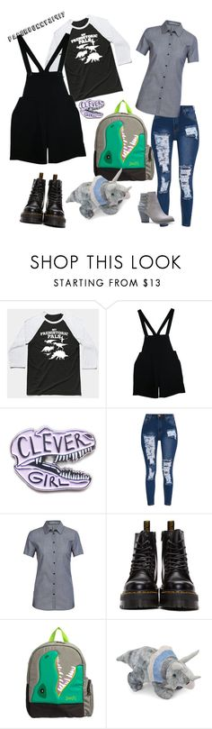 """Dino Girl & Lovely"" by paperbunny21417 ❤ liked on Polyvore featuring American Apparel, Icebreaker, Dr. Martens and Joules"