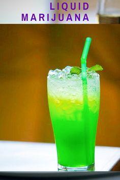 The easy making steps of Liquid Marijuana cocktail. Step by step preparation methods. Sweet Cocktails, Fruity Cocktails, Cocktail Drinks, Marijuana Recipes, Coconut Rum, Spiced Rum, Food Website