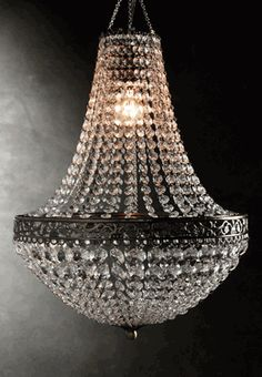 For the opulence of an old world palace or opera house, light your space with this Renaissance crystal chandelier. The chandelier is wide and bedecked in weighted acrylic crystals ranging from to It comes with a lighting kit and light soc Chandelier Design, Beaded Chandelier, Chandelier Lighting, Crystal Chandeliers, Antique Chandelier, Acrylic Chandelier, Outdoor Chandelier, Empire Chandelier, Bronze Chandelier