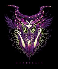 Heartless by Jehsee Maleficent Sleeping Beauty Canvas Fine Art Print