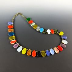 Vintage African Petal Wedding Bead Necklace by CalliopeAZCreations, $85.00