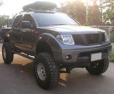 """Nissan Navara - 2005 CC 2wd auto 5"""" Calmini lift BFG 35x12.5x15 A/T Tires 15x12.5 Arctic Truck Prime Wheels Arctic Truck fender Flares"""