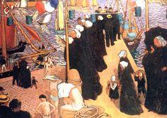 'REGATES A Perros Guirec', öl von Denis Maurice (1870-1943, France)