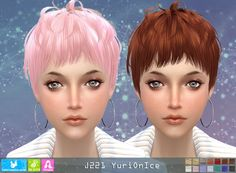 NewSea: Y221 Yuri On Ice donation hairstyle for female • Sims 4 Downloads