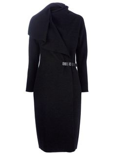 Lanvin Anthracite Wrap Coat in Gray (anthracite)