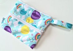 Up & Away - Multi-Use Wallet (3 Pocket) DISCONTINUED – Nuggles Designs Canada #clothdiapers #wetbag #diaperbag