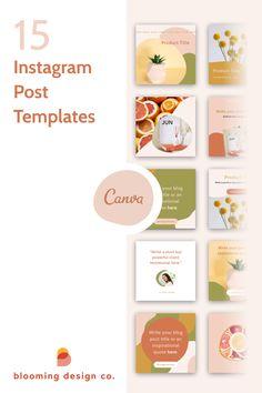 Social Media Branding, Social Media Design, Instagram Design, Instagram Feed, Instagram Posts, Branding Template, Instagram Post Template, Social Media Template, Website Template