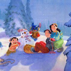Lilo and Stitch's Family.