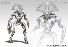 Bungie shows off a large collection of Destiny concept art from very early explorations of the game's characters, races, classes, enemies, and worlds. Destiny Bungie, Destiny Game, Character Design Animation, Character Art, Destiny Fallen, Alien Concept Art, Robot Design, Alien Design, Alien Art