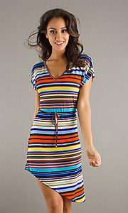 Love this striped dress!
