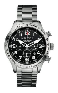 Nautica Men's Bfd 101 Chrono Watch A18592G With Black Dial And Stainless Steel Bracelet Nautica http://www.amazon.co.uk/dp/B003UKP2LO/ref=cm_sw_r_pi_dp_jrqFwb0CVKEB3
