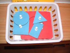 Trace and learn shapes Purpose To learn different shapes Buy/DIY materials DIY (cardboard, pins as knobs)