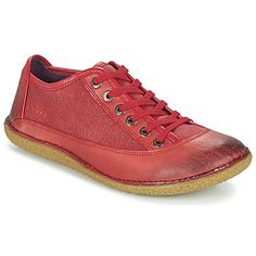 Chaussures Femme Derbies Kickers HOLLYDAY Rouge