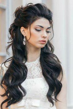 Wedding hairstyle for dark hair