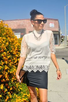Street Style How To Wear A Silk Victorian Lace Blouse