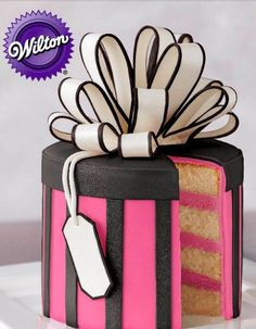How cool is this gift box fondant cake by Wilton?! This is hands down the best birthday cake recipe ever!