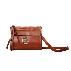 Michael Kors Jet Set Logo Medium Brown Crossbody Bags