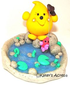 polymer clay fish pond - - Yahoo Image Search Results
