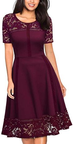 online shopping for MISSMAY Women's Vintage Floral Lace Contrast Elegant Cocktail Swing Dress from top store. See new offer for MISSMAY Women's Vintage Floral Lace Contrast Elegant Cocktail Swing Dress Dress Outfits, Casual Dresses, Fashion Outfits, Elegant Dresses, Dress Fashion, African Fashion Dresses, African Dress, Pretty Dresses, Beautiful Dresses