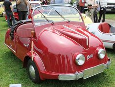 1955 Kroboth Allwetterroller (German) Three Wheel Micro Car with 175cc or 197cc Single Cylinder Air-Cooled Two Stroke Engine (Cool Cars Vintage)