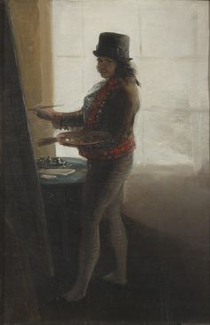 Francisco de Goya, Self Portrait before an Easel, 1792-5