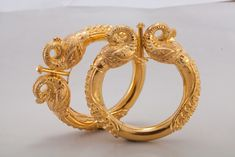 Gold Bangle Design from Harsha Jewellers Gold Ring Designs, Gold Bangles Design, Gold Earrings Designs, Gold Jewellery Design, Necklace Designs, Gold Jhumka Earrings, Gold Necklace, Gold Rings Jewelry, Jewelry Bracelets