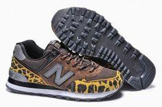 Joes New Balance ML574 Camo Brown Yellow Mens Shoes