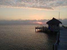 Sunrise from the off the pier at the Portofino Beach Resort