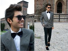 The mens Bow tie. Very in now days. Men using the bow tie in a more casual style