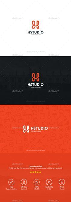 H Studio Logo Template PSD, Vector EPS, AI. Download here: http://graphicriver.net/item/h-studio/13420736?ref=ksioks