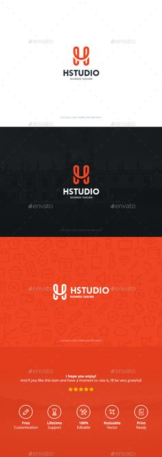 H Studio Logo Template PSD, Vector EPS, AI. Download here: http://graphicriver.net/item/h-studio/13420736?ref=ksioks