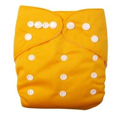 Baby One Size Washable Reusable Adjustable Cloth Pocket Diaper - Yellow